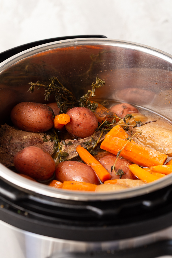 Instant pot pot roast in the instant pot liner