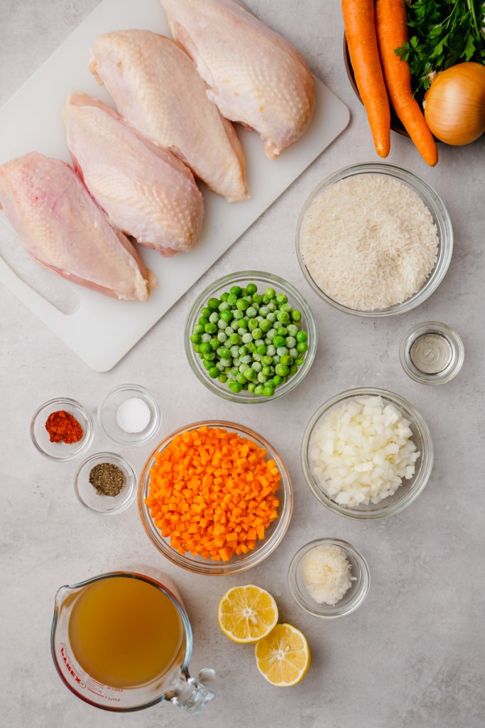 instant pot chicle and rice ingredients