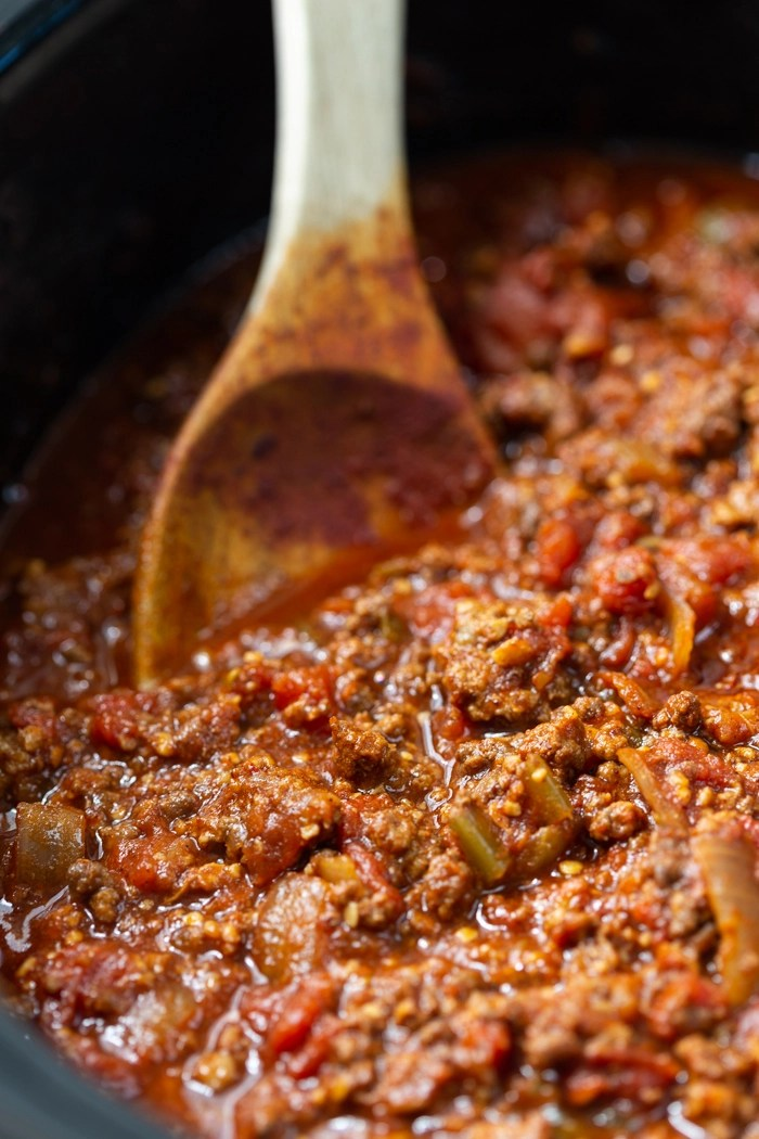 A beanless keto chili