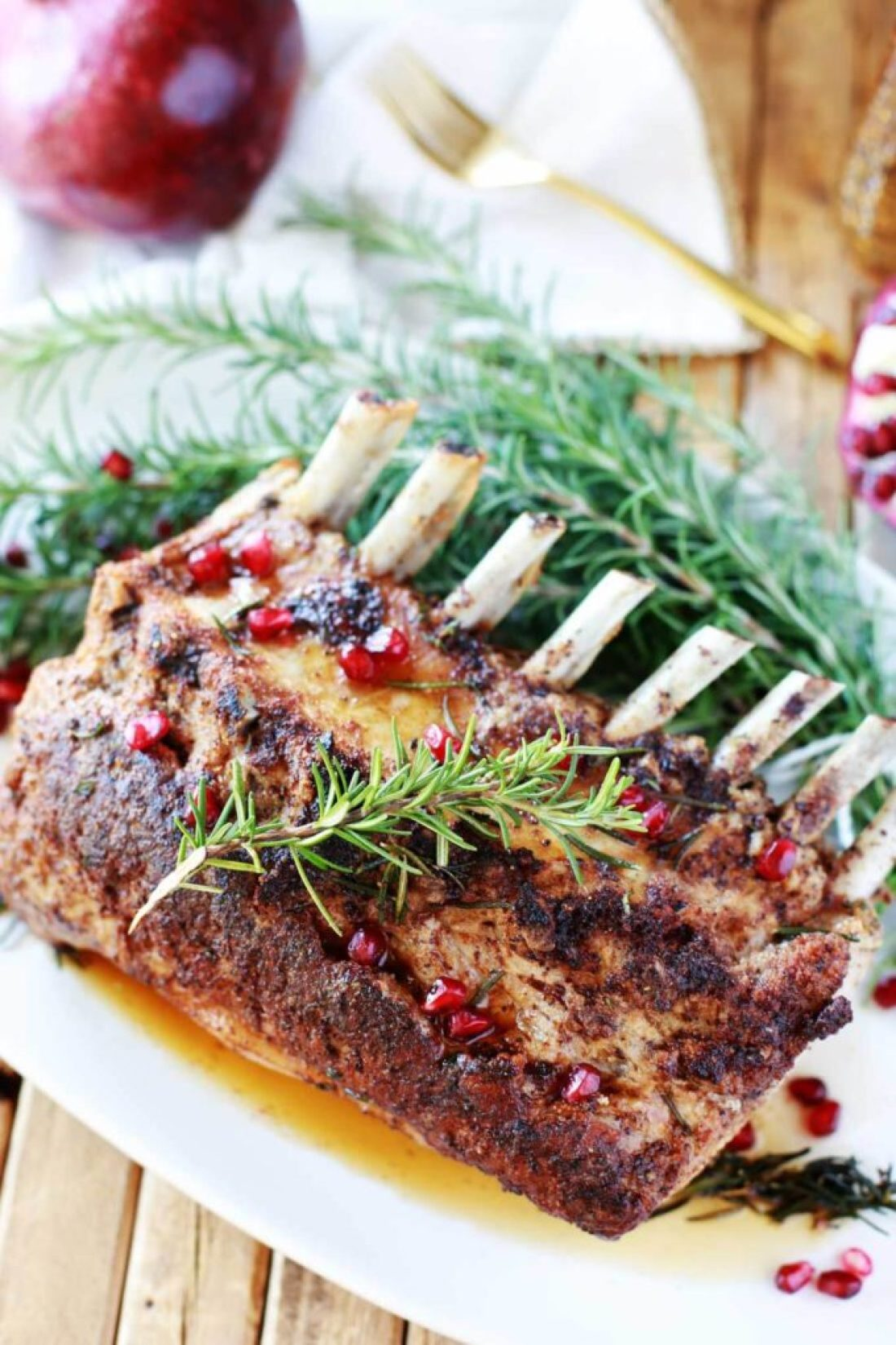 How to Roast Pork Rack: How to Perfectly Roast a Rack of Pork: juicy, tender, and super flavorful anyone? Following this method will help you get the best rack of pork you have ever eaten. Compliments guaranteed.