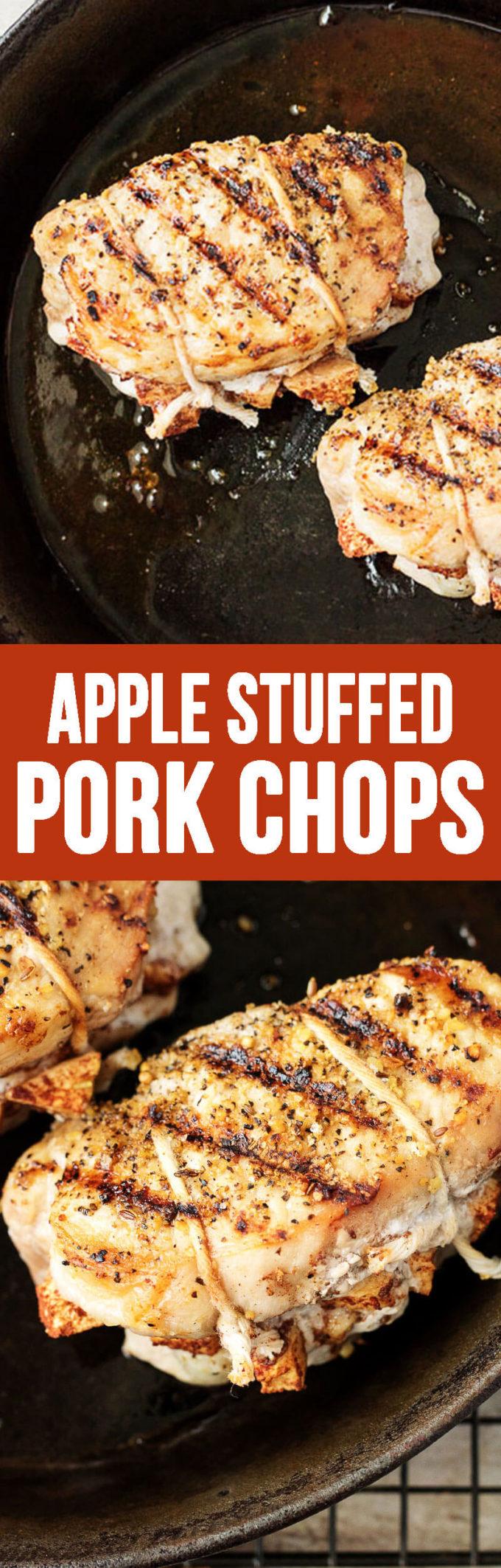 Savory Apple Stuffed Pork Chops
