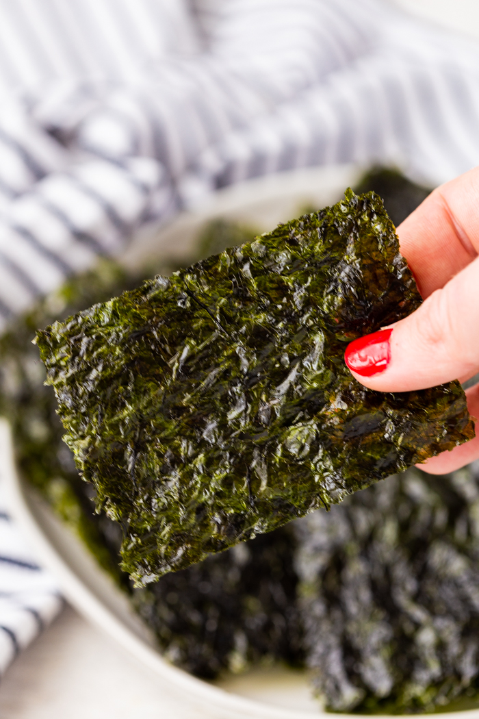 Seaweed is a great low carb snack