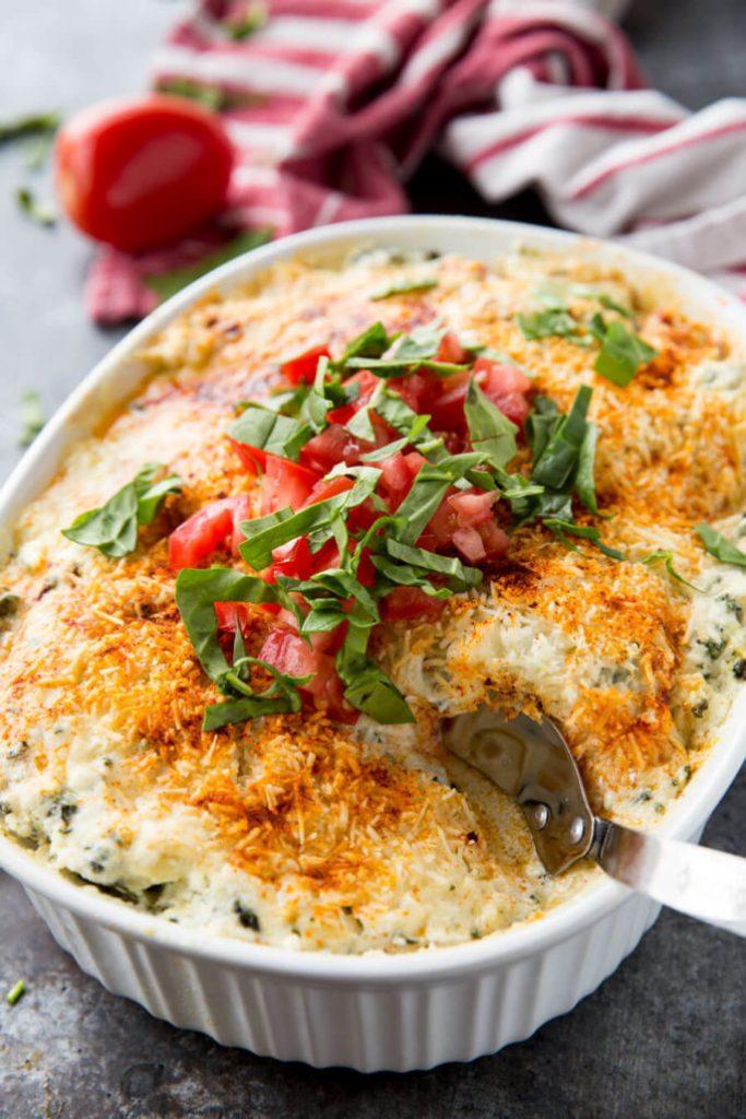 Spinach Artichoke Dip Baked Chicken