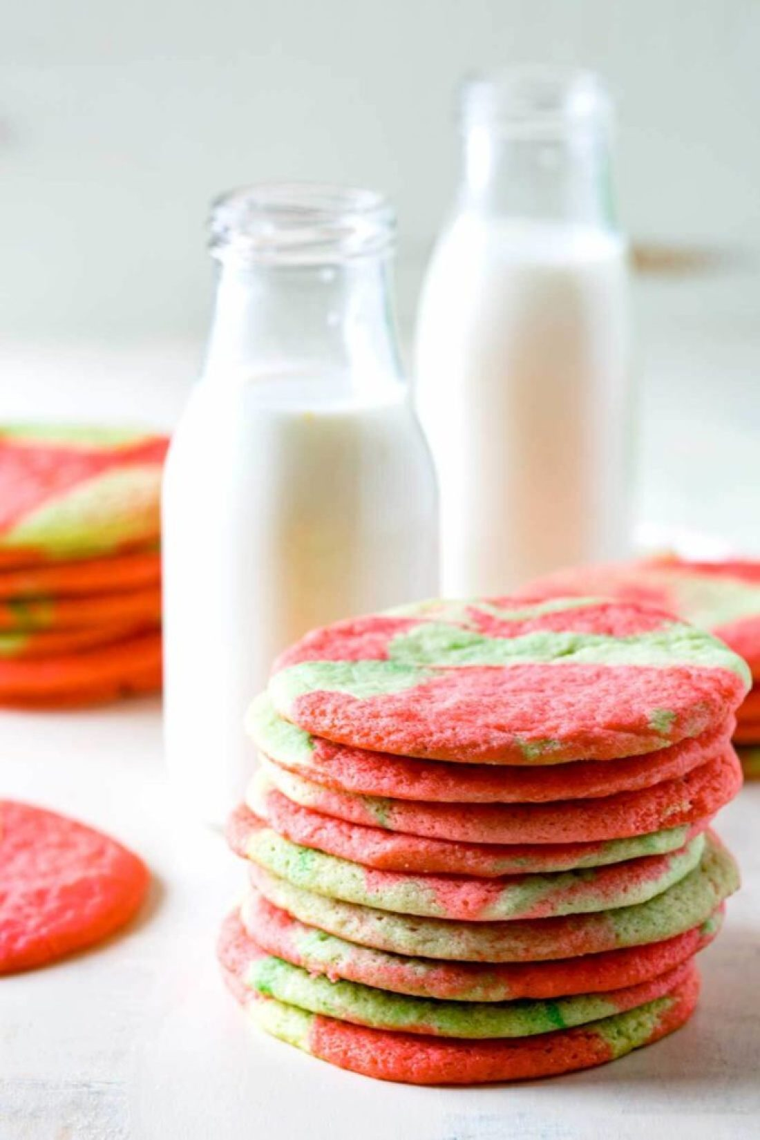 Tie Dye Sugar Cookies are a festive twist on a classic sugar cookie recipe