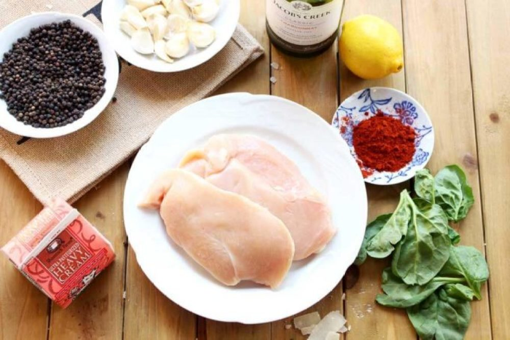 A flavorful dinner, Lemon Butter Chicken, savory chicken dinner