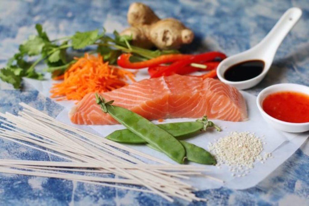 Salmon-Soba-Noodles -Ingredients