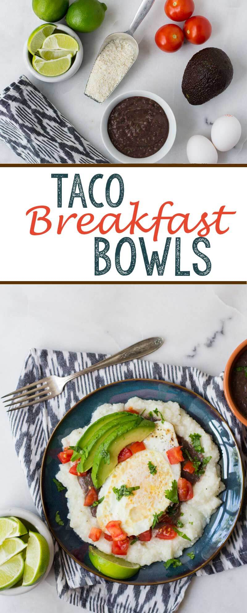 Taco breakfast bowls are a mouthwatering breakfast option
