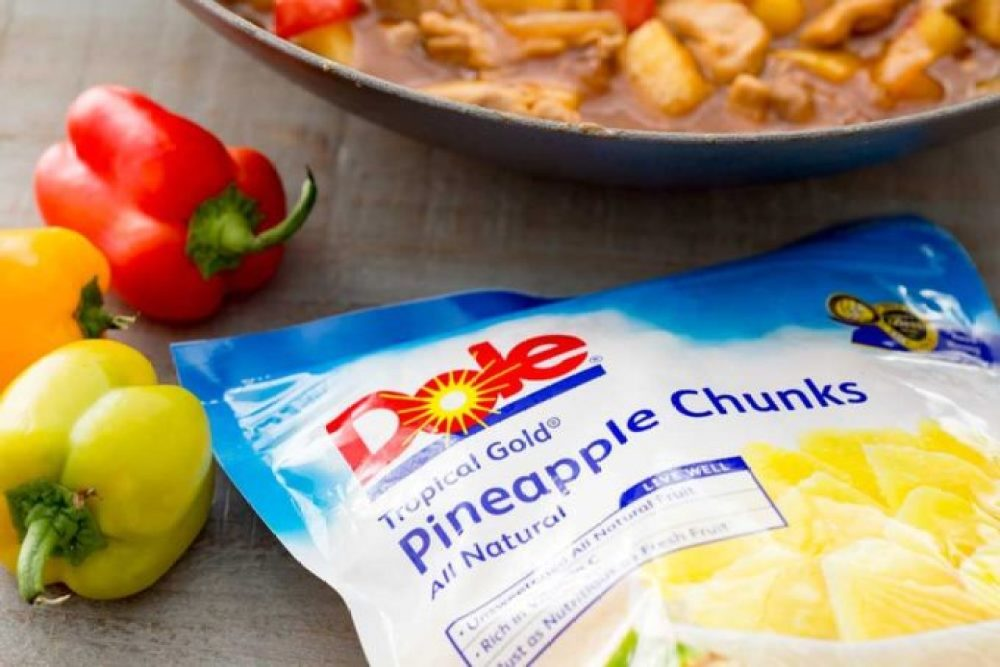 Dole pineapple chunks can be used in firecracker chicken
