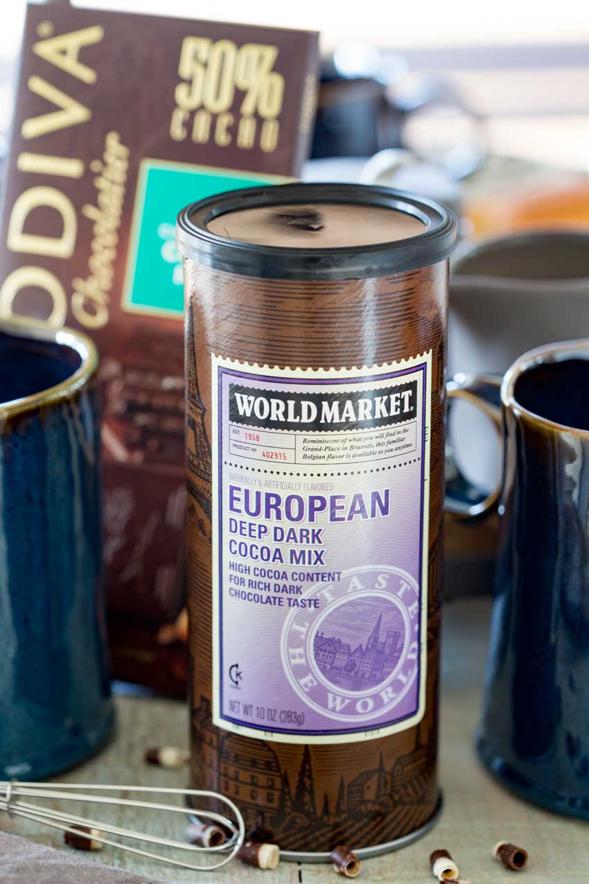 Making French hot chocolate