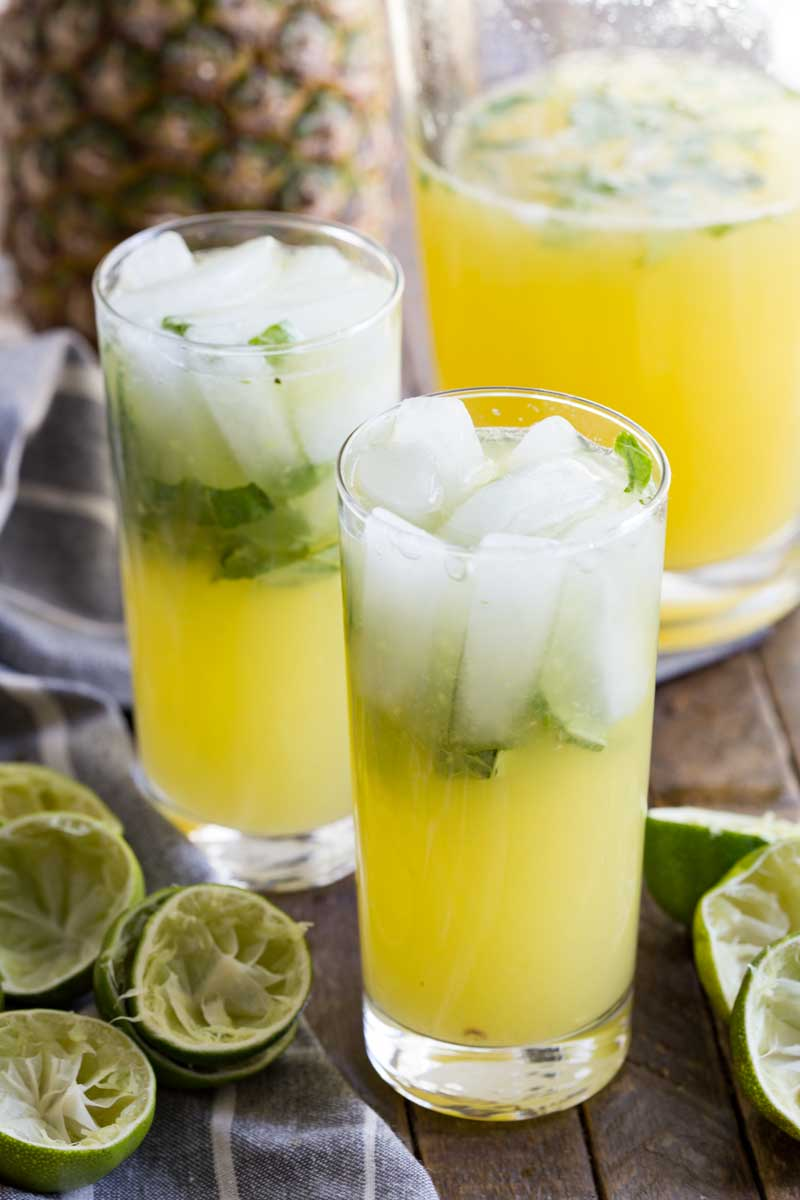 Pineapple limeade is cool, freshing, and a bold delightful combo of flavors