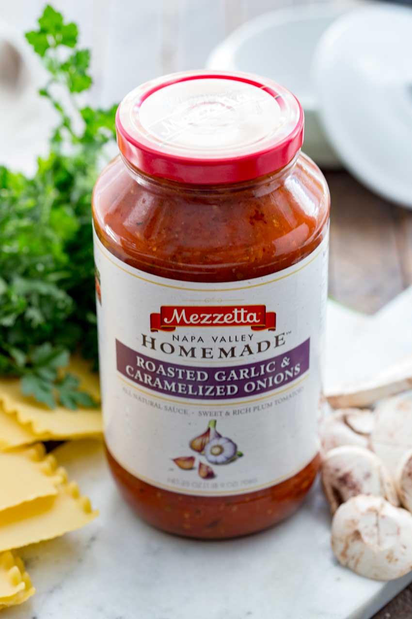 Traditional Lasagna made with Mezzetta sauce