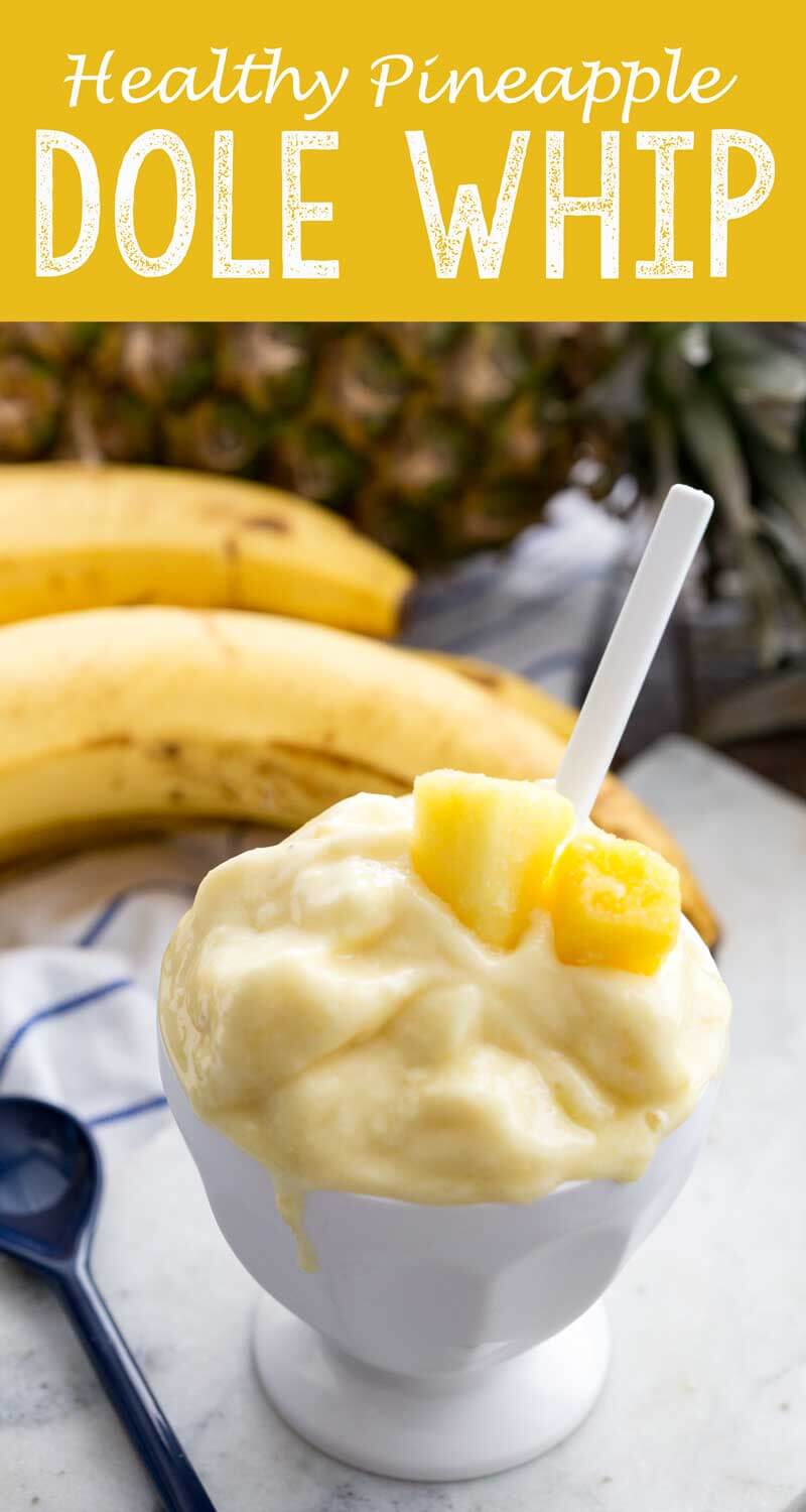 Pineapple Dole Whip that is healthy and filled with protein