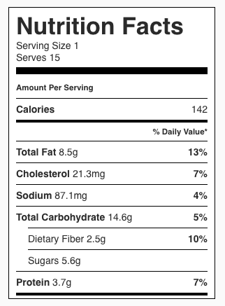 Apple Pie Breakfast Cookies Nutrition Facts