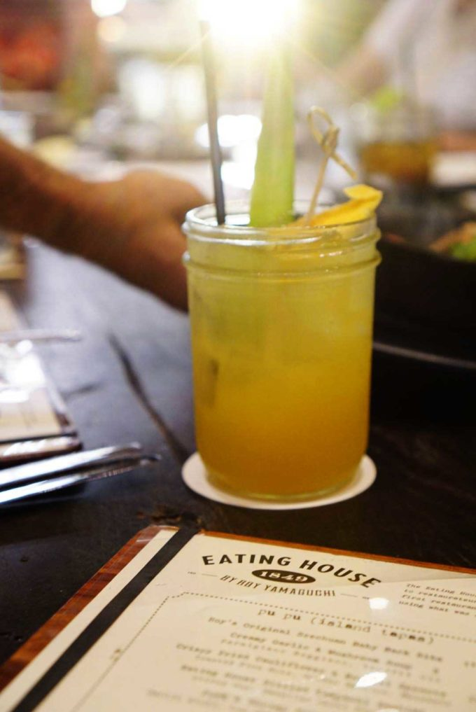 Mango plantation drink at the Eating House 1849