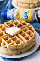 Classic waffles with a kid friendly twist that makes them even more nutrient dense