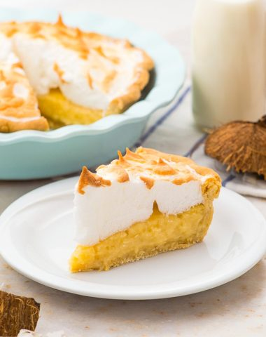 Coconut Cream pie with a perfect meringue