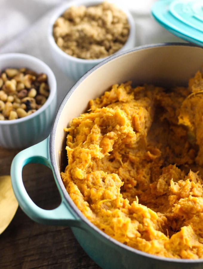 Mashed Loaded Sweet Potatoes