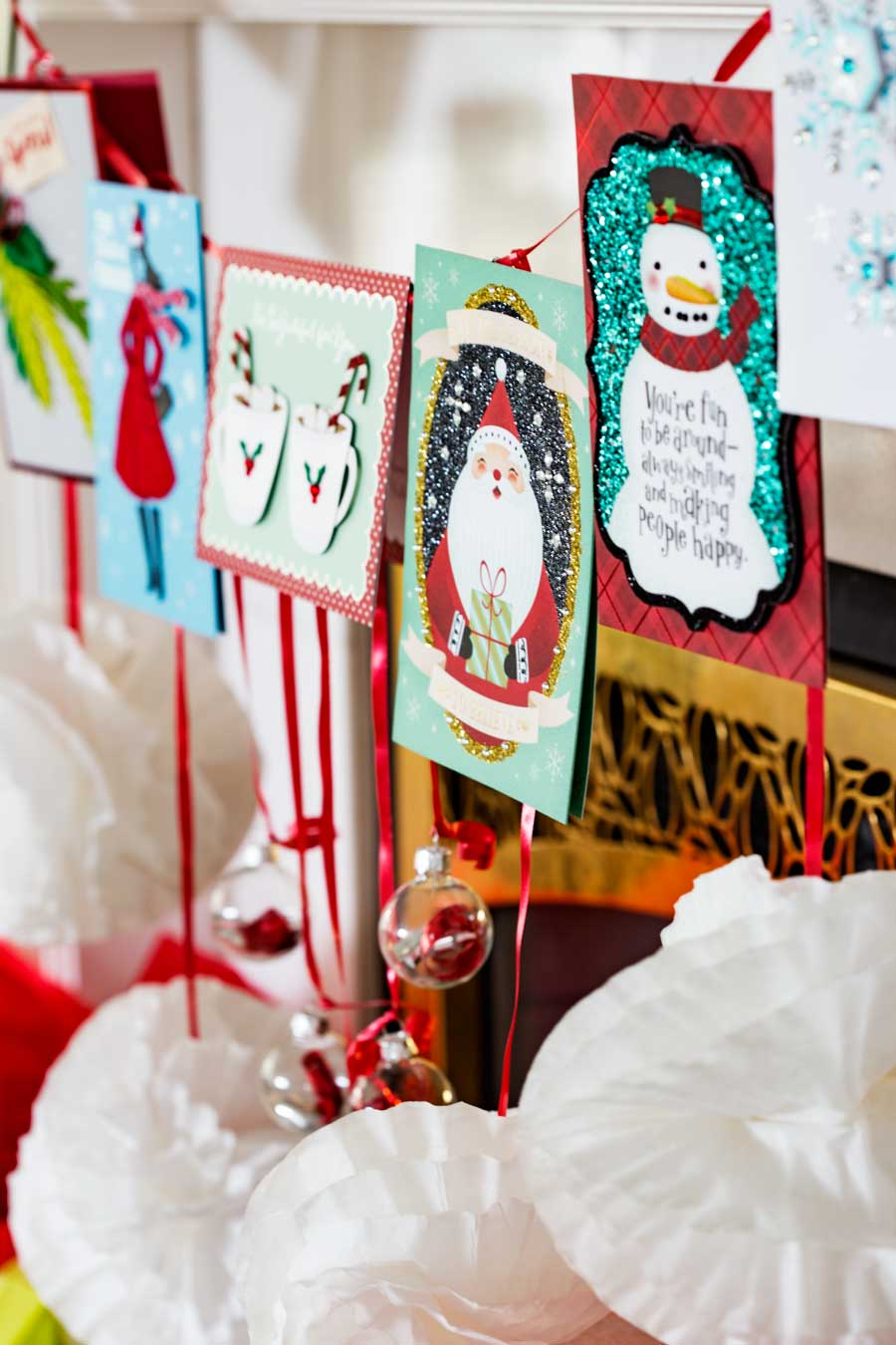 Card banner, great for Christmas decorating