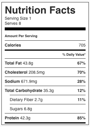 Creamy Clam Chowder Nutrition Facts