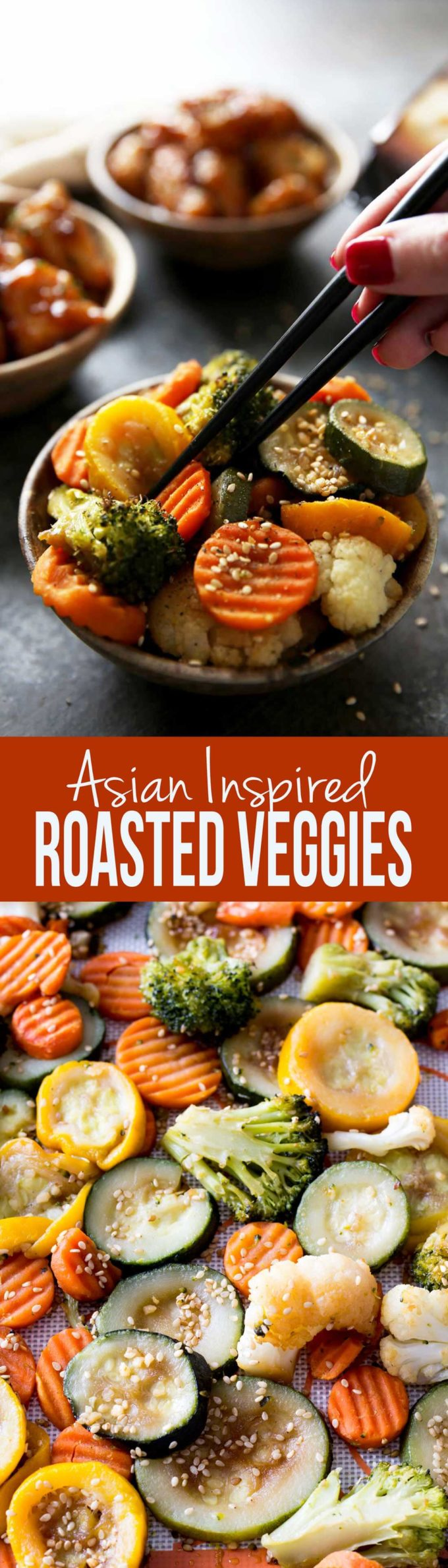 Easy asian inspired veggies roasted in the oven