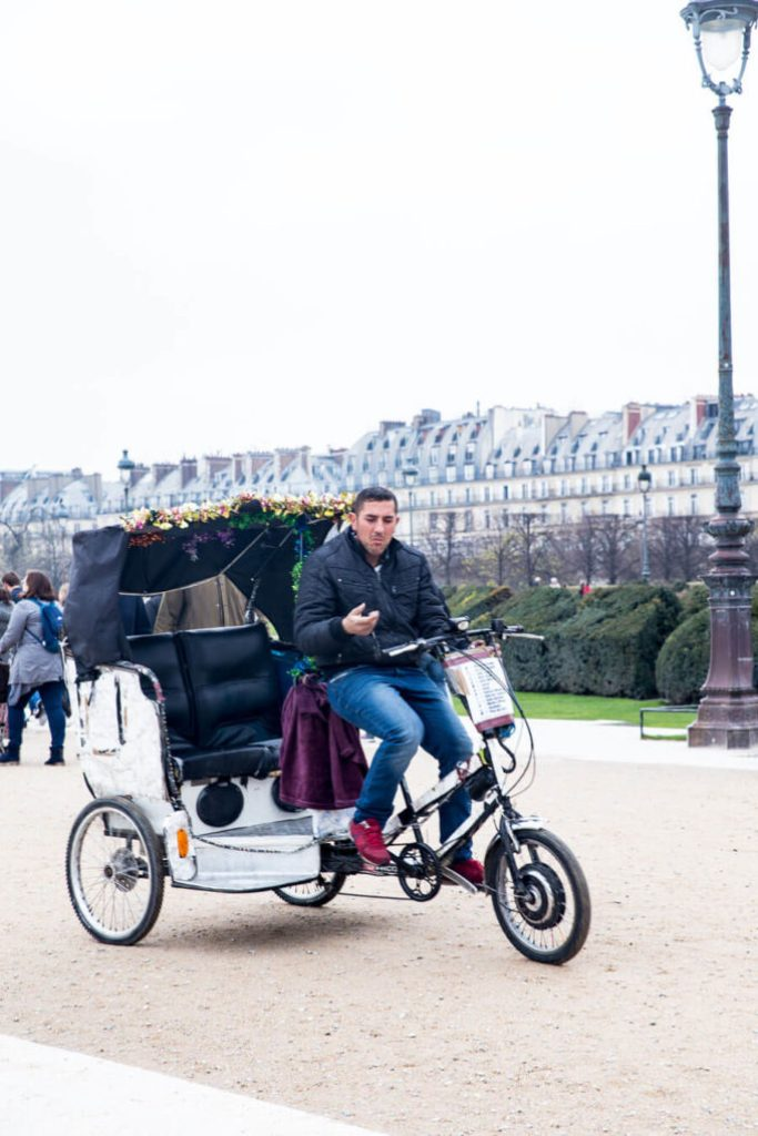 Bike taxis in Paris