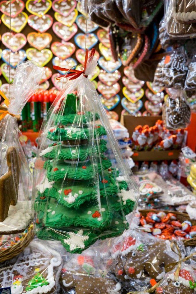 Christmas gingerbreads at the polish christmas markets