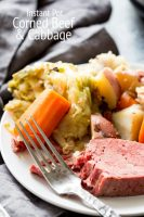 Instant Pot Cooked Corned Beef and Cabbage