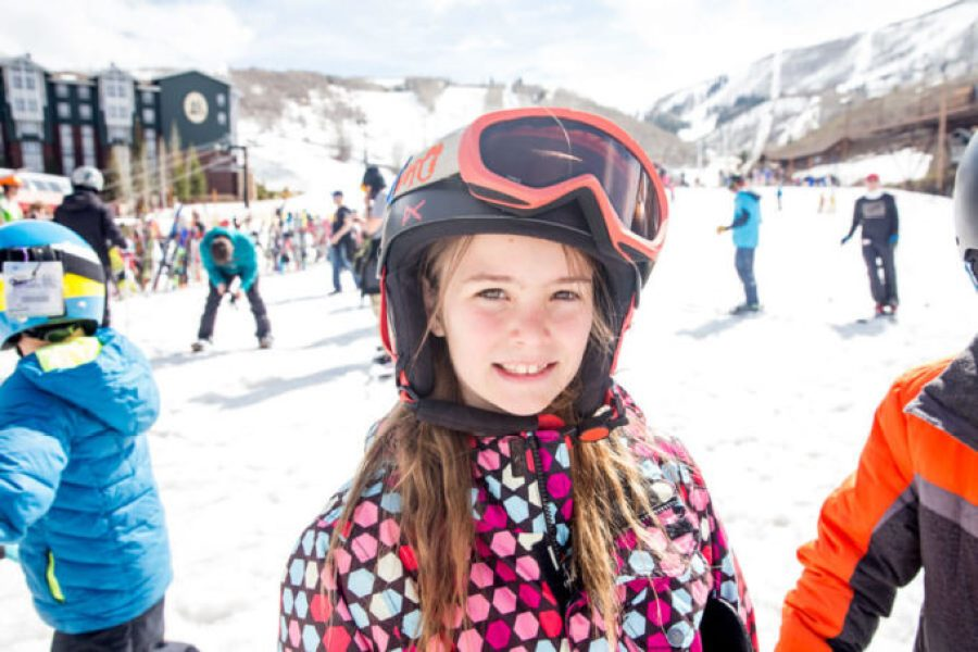 Ski park city with epic school kids program