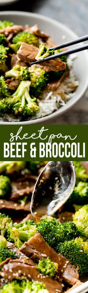 Delicious and easy sheet pan beef and broccoli