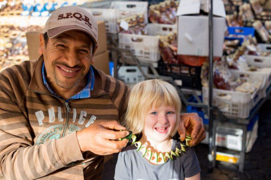 Charming the vendors at Campo di fiori ROME