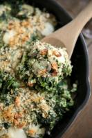 Easy Creamed Spinach and Mushrooms