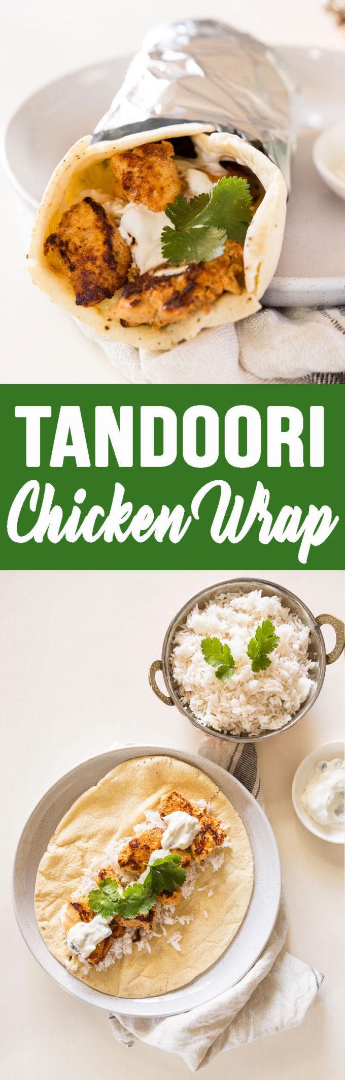 Tandoori Chicken Wraps make for an easy dinner.