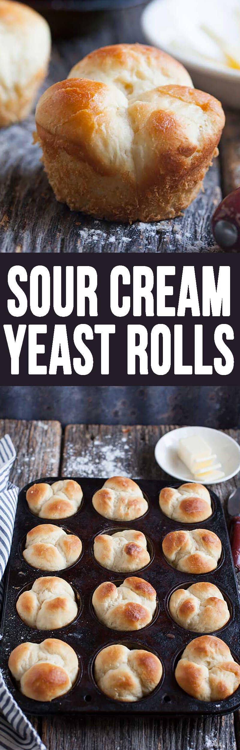 Sour Cream Yeast Rolls are excellent for Thanksgiving. These are tasty rolls.