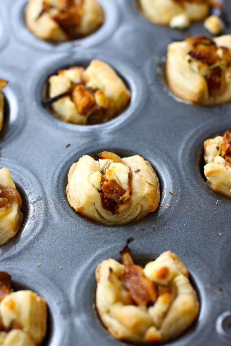These Caramelized Onion, Fig & Goat Cheese Bites are perfect for all of your holiday parties! They're full of flavor and so easy to throw together - they'll be sure to be the first things gone!