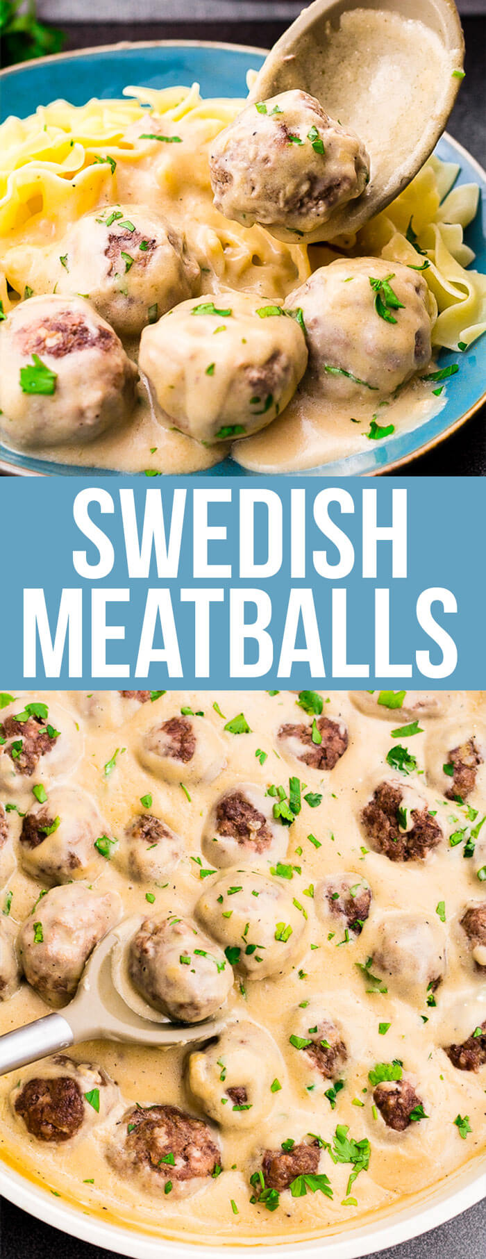 Swedish Meatballs: Mouthwatering, homemade,Swedishmeatballs smothered in a decadent sauce; these beat IKEA every time!
