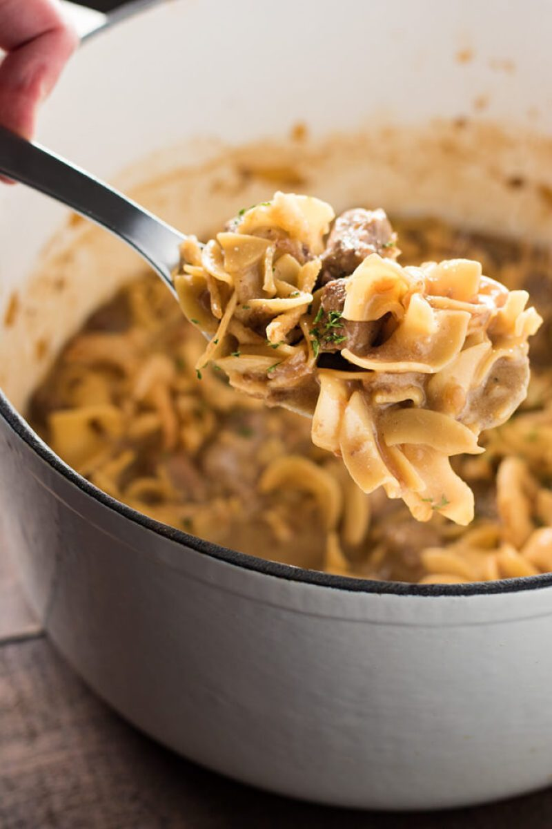 Easy One Pot French Onion Beef and Noodles