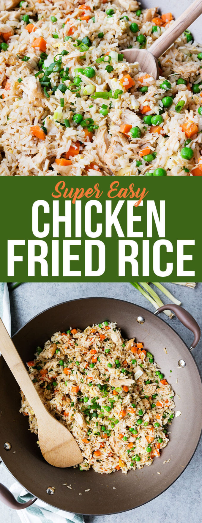 Super easy chicken fried rice, an excellent fried rice that is super simple but bursting with flavor