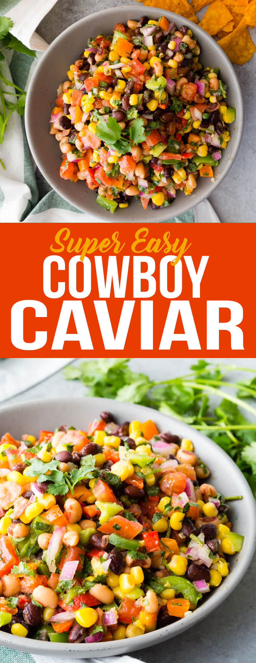 Delicious and easy cowboy caviar, a bean and avocado salsa that will blow your mind.