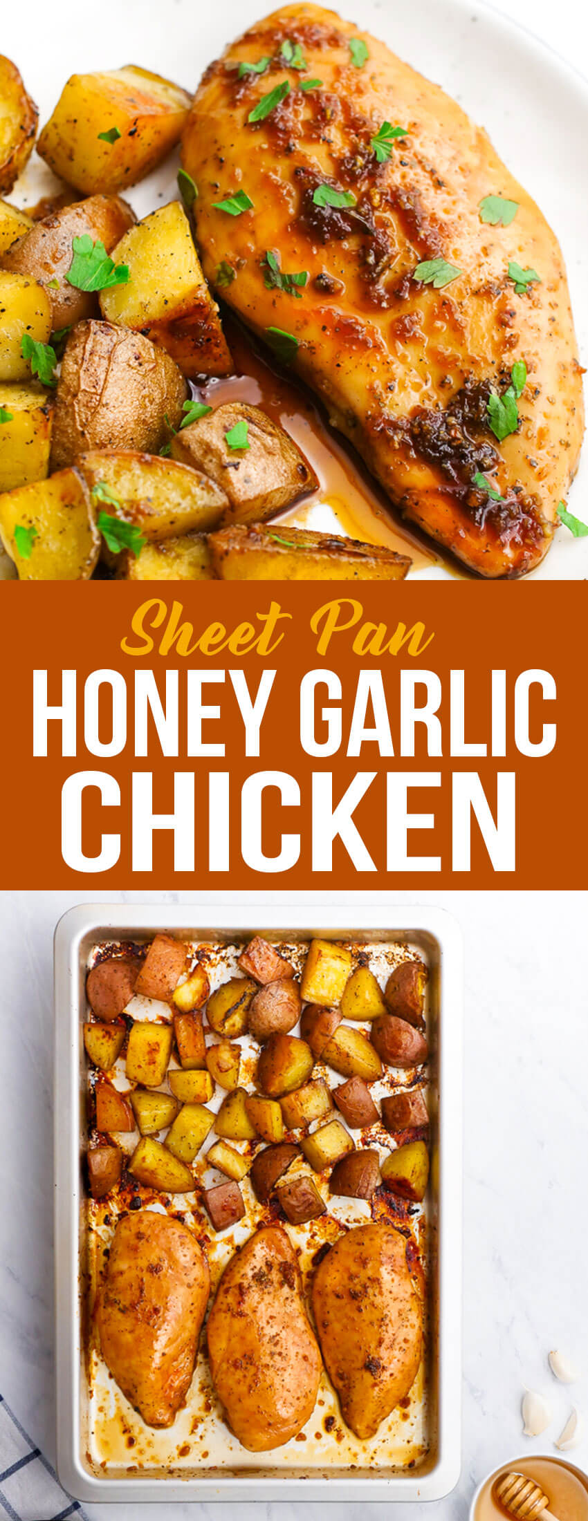 This sheet pan honey garlic chicken is a simple dish with tons of flavor.