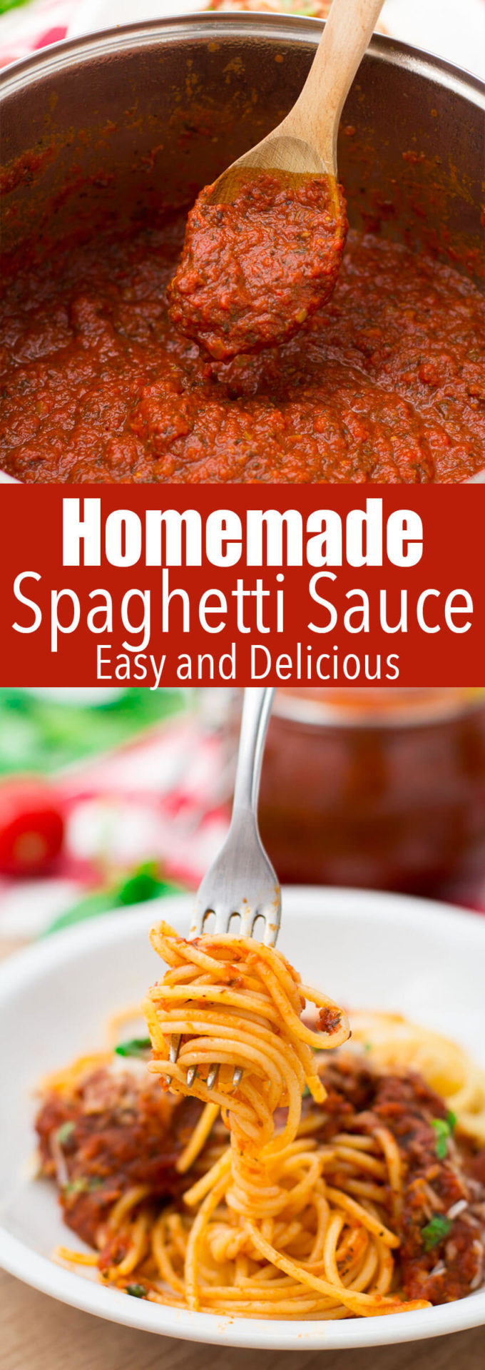 Homemade Spaghetti Sauce: This spaghetti sauce has a robust flavor, is easy to make, uses easy to find ingredients, and is absolutely delicious.