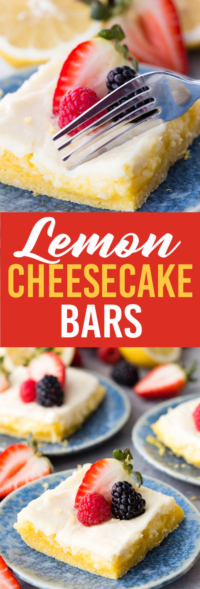 Easy lemon cheesecake bars that start with a boxed cake mix, but are better than the box.