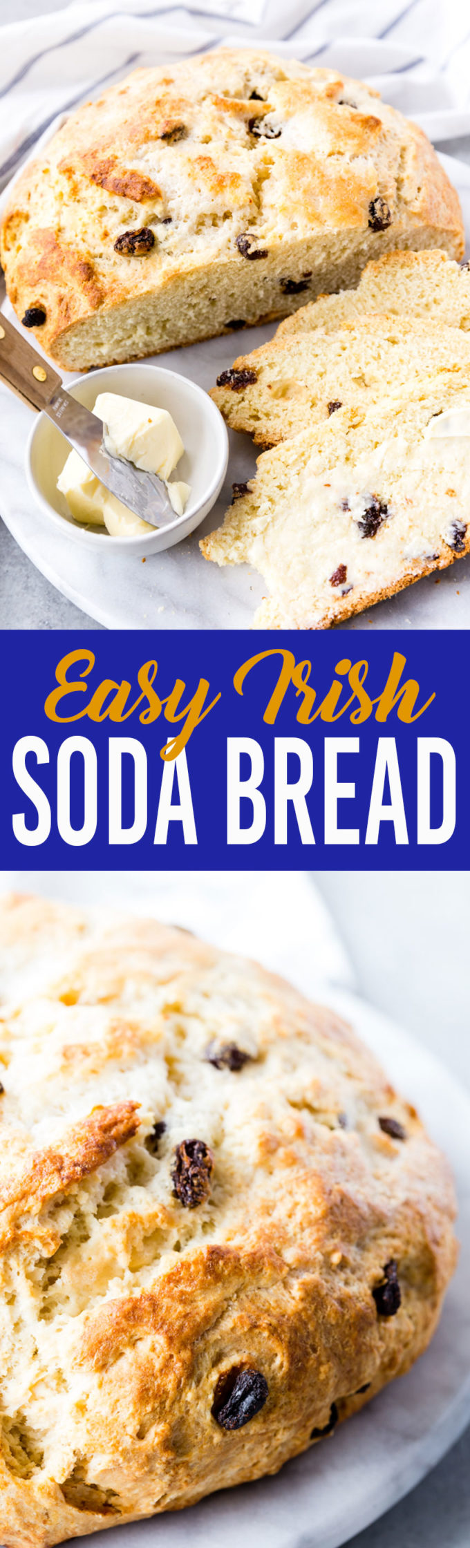 Easy Irish Soda Bread has a dense flavor, crisp crust, and so much flavor.