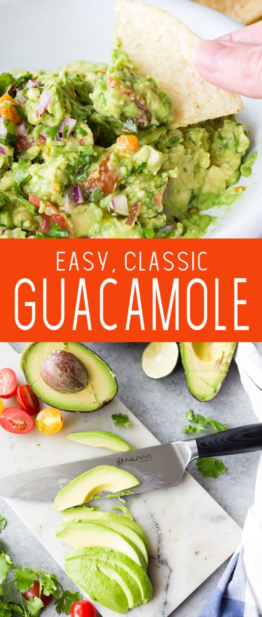 Easy Classic Guacamole, this Guacamole is made with delicious avocado, cilantro, and onion.