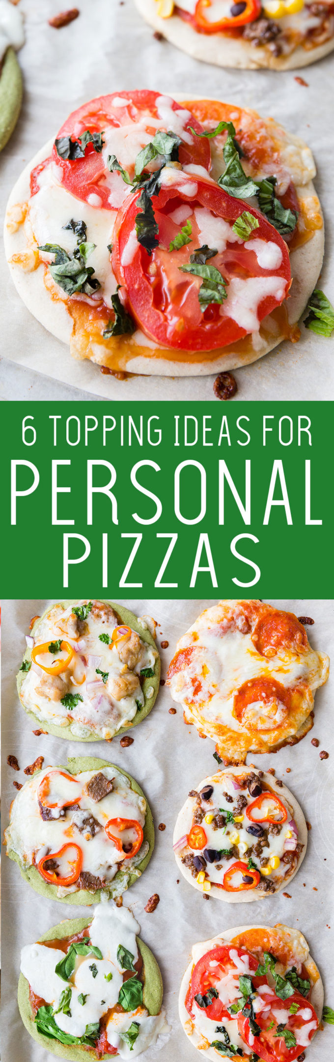 6 awesome topping ideas for personal pan pizzas, and an awesome machine to make them. This is the kitchen gadget you need!