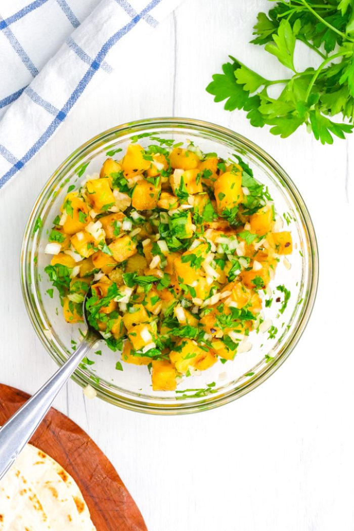 A pineapple pico perfect for tacos al pastor