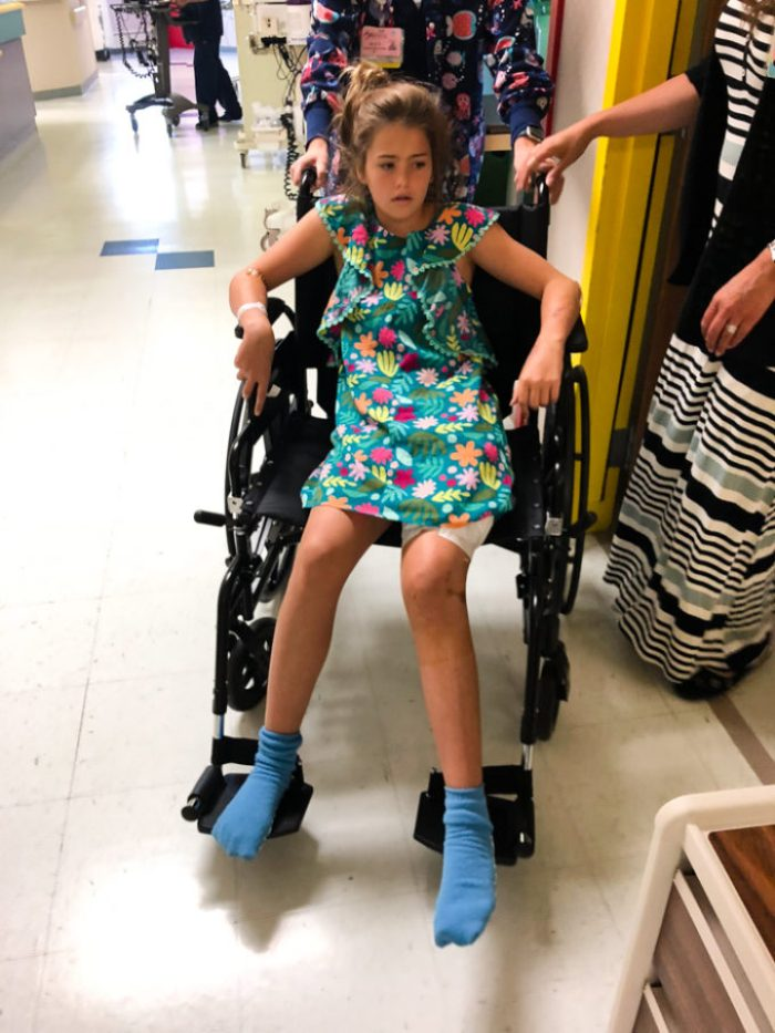 being discharged from the hospital