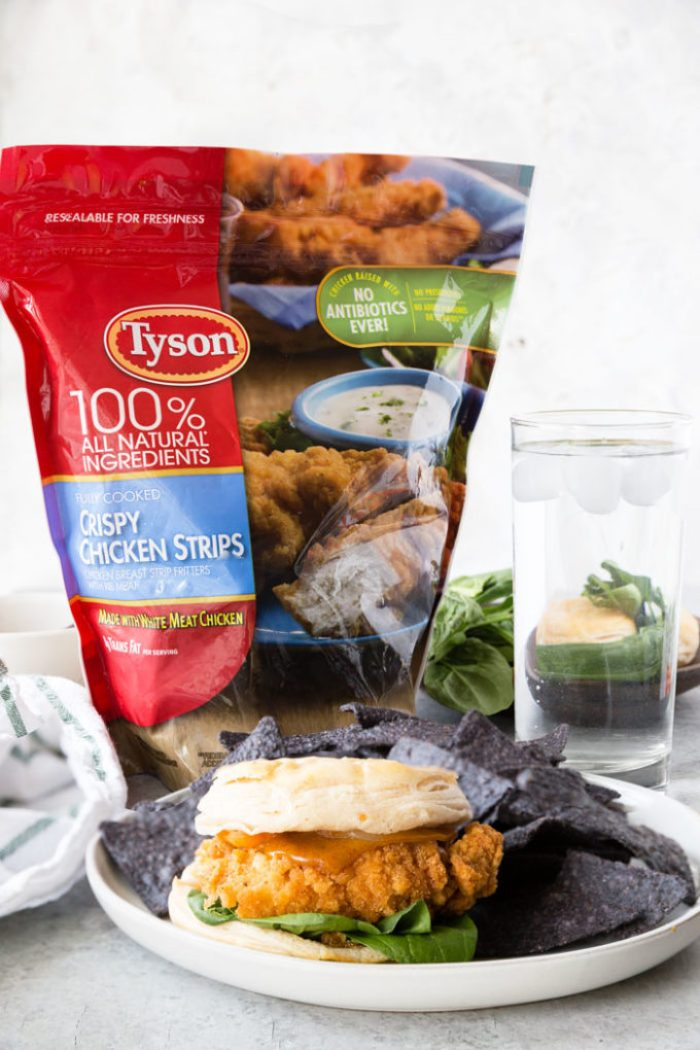 Delicious Tyson chicken strips and a Tyson chicken sandwich
