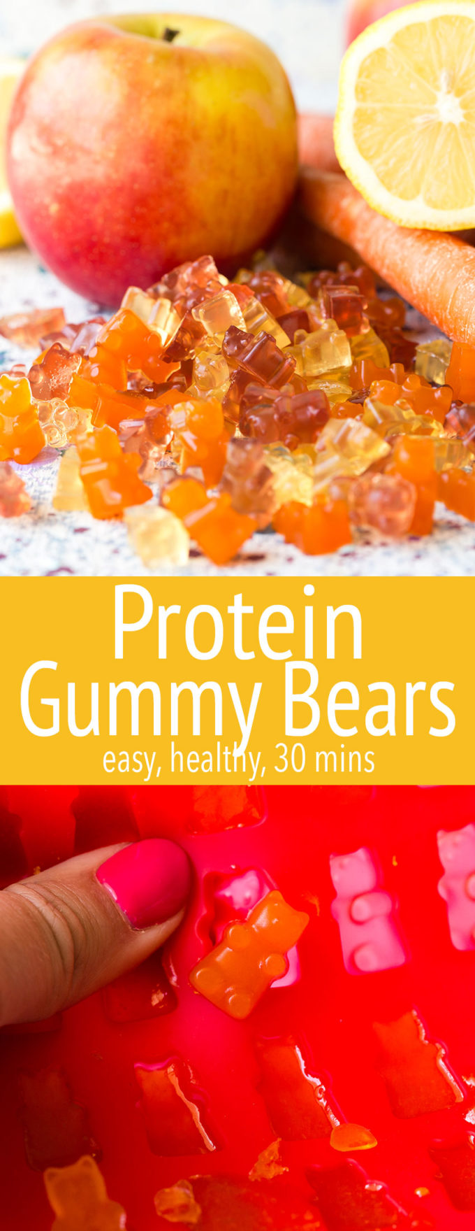 Make your own protein gummy bears for a great, easy, treat that you can feel good about.
