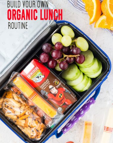 Let kids build their own organic lunch with this lunch box routine
