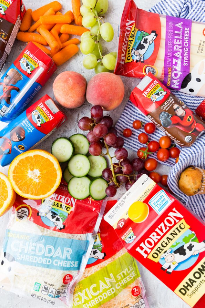 Organic lunch ingredients for great school lunches for kids
